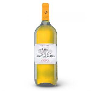 Bottle Of Italian Wine On White Background. Full White Wine Bott