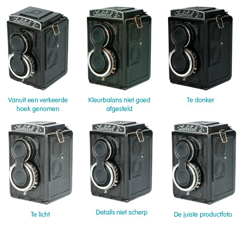Top 5 veel voorkomende fouten bij productfotografie